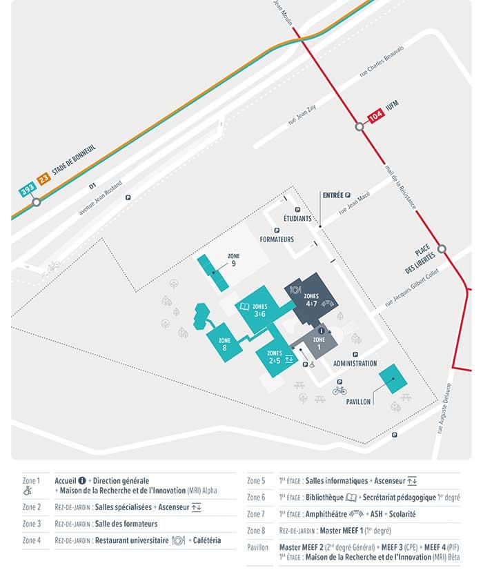 Carte Campus de Bonneuil