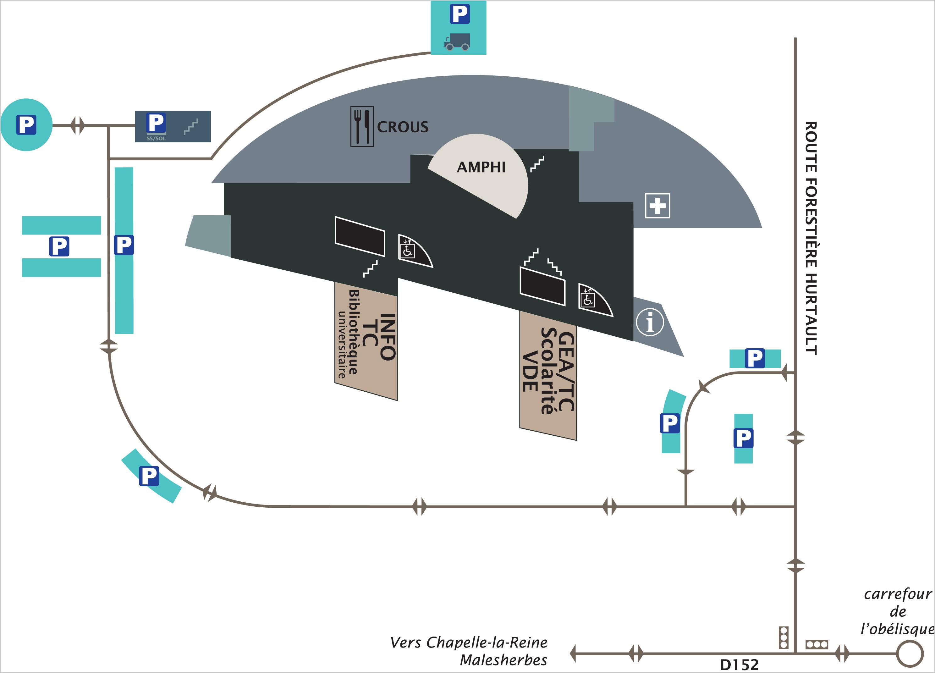 Plan du Campus de Fontainebleau