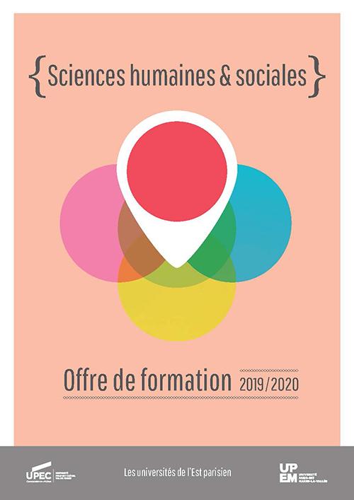 """Plaquette UPEC - UPEM """"Sciences humaines et Sociales"""" 2019-2020"""